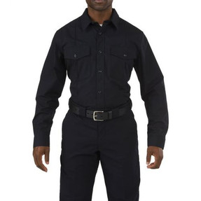 5.11 Tactical 72073 Stryke PDU Class A Long Sleeve Button-Down Uniform Shirt, 2 Chest Pockets, Badge Tab, Mic Loop, Flex-Tac Fabric, available in Black, or Midnight Navy