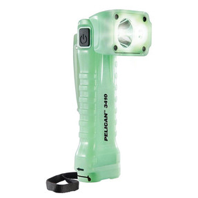 Pelican Right Angle LED Light, Glow in the Dark Body, 3 Modes: High / Medium / Low, Photoluminescent 3410, Quantities of 6