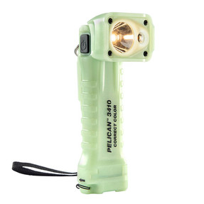 Pelican Right Angle LED Light, With 3 Modes: High / Medium / Low, 484 Lumens, Photoluminescent 3410MCC, Quantities of 6
