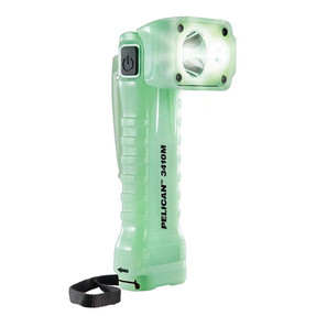 Pelican Right Angle LED Light, Glow in the Dark Body, 3 Modes: High / Medium / Low, Photoluminescent 3410M, Quantities of 6