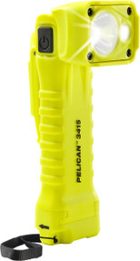 Pelican Right Angle LED Light, With 2 modes: spot and flashing, High Visibility Yellow 3415, Quantities of 6