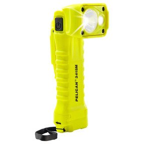 Pelican Right Angle LED Light, With 2 modes: spot and flashing,  High Visibility Yellow 3415M, Quantities of 6