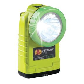 Pelican Right Angle LED Light, With 4 mode battery level indicating button, High Visibility Yellow 3715PL, Quantities of 6