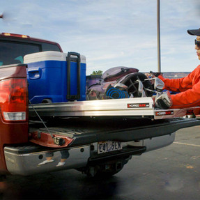 """Cargo-Glide CG1000 Toyota Tacoma Steel Truck-Bed Slide and Extender, 1000 lb Capacity, 65-75% Extension, 4"""" Side Rails, 3.875"""" Deck Height, Includes Installation Kit"""