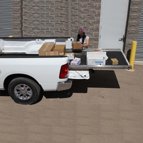"""Cargo-Glide CG1000 Ram 1500/2500/3500 Steel Truck-Bed Slide and Extender, 1000 lb Capacity, 65-75% Extension, 4"""" Side Rails, 3.875"""" Deck Height, Includes Installation Kit"""