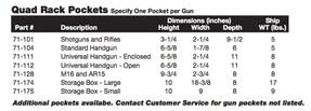 Tufloc 72-210 12 Slot Handgun Storage Gun Rack, Vertical Wall Mount, 47x19x5, Power-Coated Steel, Additional Storage Box Pockets, Small Box Holds 2 Handguns Large Box Holds 4, Lockable