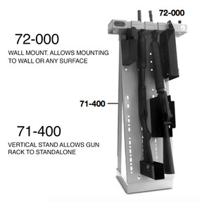 Tufloc 72-000 Quad Rack with STANDARD BACK PLATE, mounts to any wall or surface, holds up to 4 Guns, AR15, Handgun, Rifle, Shotgun, 38x19 x5, Powder-Coated Steel, with Optional Vertical Stand, Lockable