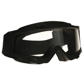 Paulson ACG-L  Tactical Goggles with anti-abrasion hard coating and permanent anti-fog coating. Designed  to specifically address the needs of tactical and military operations. Lens locks into the frame with four sliding keys.