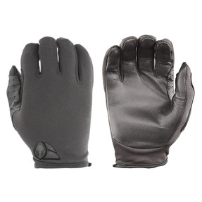 Damascus ATX Duty Advanced Law Enforcement Riot Gear Tactical Gloves ATX5 Lightweight thin patrol w/ lycra back, leather palms, Slip-on construction with zero bulk, Lightweight Lycra® twill backhands