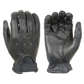 Damascus PREMIUM LEATHER DRIVING GLOVES, Smooth premium quality aniline finished cowhide, With open knuckles and ventilation holes, Adjustable strap with embossed logo, Good for all year use in mild weather conditions
