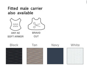 Armor Express ® American Revolution Female Concealable Ballistic Body Armor Carriers, Choose Carrier only or Carrier and Panels (Soft Armor), NIJ Certified - Level 2, or Level 3A Threat Levels - Interior suspension helps prevent sagging of armor