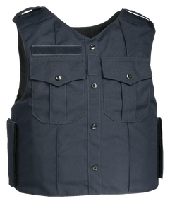 Armor Express ® Dress Vest GC Men's Overt Ballistic Body Armor Carrier, designed to be suitable for daily use by Patrol Officers-Choose Carrier only or Carrier and Panels (Soft Armor), NIJ Certified-Level 2, or Level 3A Threat Levels