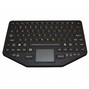 Gamber Johnson 7300-0113 iKey Dual Connectivity Slim Keyboard, Rechargeable Lithium Ion Battery, Humidity Resistant