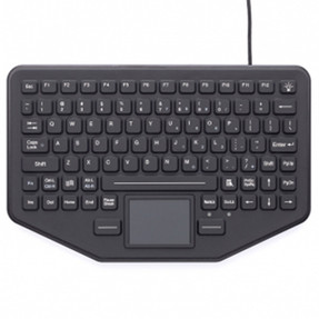 Gamber Johnson 7300-0033 iKey SkinnyBoard™ Mobile Keyboard with Touchpad Measures only 0.5 inch Deep, Humidity Resistant, Compatible with all Windows and Mac OS