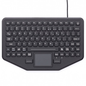 Gamber Johnson 7300-0032 iKey SkinnyBoard™ Mobile Keyboard with Touchpad and Humidity Resistant, Compatible with All Windows and Mac OS