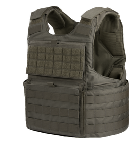 Armor Express ® Hard Core H3 Men's Overt Ballistic Body Armor Carrier, Adjustable Shoulders and waist, Ventilation Liner system and front kangaroo pouch-Choose Carrier only or Carrier and Panels (Soft Armor), NIJ Certified - Level 2, or Level 3A Thre