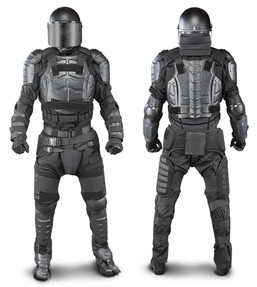 Damascus DFX2 Riot Control Kit, Law Enforcement Riot Gear Protection for your Upper Body, Groin, Thighs, Knees and Shins, includes Aluminum Chest Plate, hard shell front and back panels, Helmet & Face-Shield not included