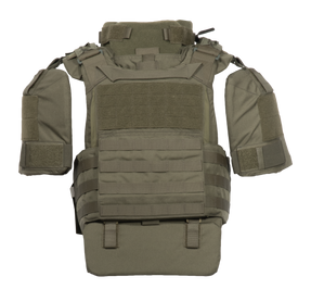 Armor Express ® TORC -Tactical Operations Response Carrier -  An Overt Carrier With a kangaroo pouch, dynamic  cummerbund and multiple add-ons, Includes  NIJ Certified Level IIIA Panels (Soft Armor)