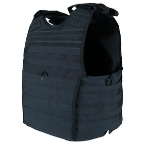 Condor 201165 EXO Plate Carrier GEN II with Adjustable Shoulder Straps, available in Black, Olive Drab, Navy, and Coyote Brown