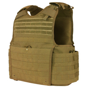 Condor 201147 Enforcer Releasable Plate Carrier, Adjustable Shoulder Straps and Adjustable Tactical Cummerbund with Built-In Soft Armor Pockets, available in Black, Olive Drab, and Coyote Brown