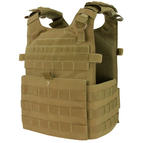 Condor 201039 Gunner Plate Carrier with Adjustable Shoulder Straps and Adjustable Tactical Cummerbund, available in Black, Olive Drab, and Coyote Brown