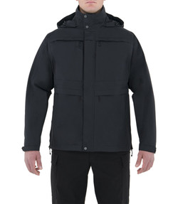 First Tactical 118500 Mens Tactix System Waterproof Parka Jacket, 100% Nylon, Breathable, Adjustable Cuffs, Regular Length, available in Black and Midnight Navy