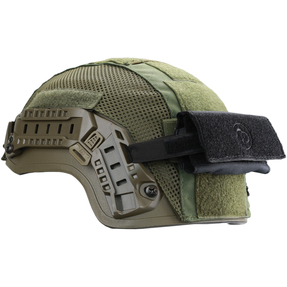 Armor Express BUSCH PROTECTIVE AMP-1E Ballistic Helmet, certified to NIJ IIIA (9mm and 44 Magnum), advanced padding system, wheel-dial system, unique rail system.