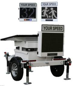 Decatur Electronics OnSite OS-350MX Radar Speed Trailer with Matrix Messaging, License Plate Recognition (LPR) Ready (not included)