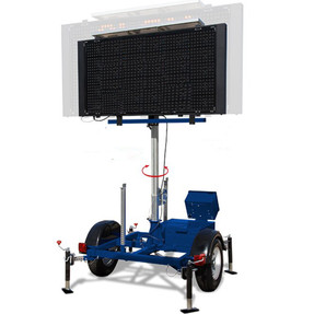 Stalker Variable Message Board Sign And Trailer, Includes Traffic Data Collector, Rotates 360 Degrees, Raise - Lower - Pivot, Choose (In Feet) 3 X 6 Or 4 X 8 Display Panels, Battery And Solar Powered
