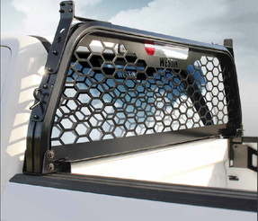 Westin HLR Pickup Truck Headache Rack 57-81045, Ford Super Duty 1999-2020, High visibility with 78% open Aluminum Punch Plate Screen, Optional Adjustable Tie Downs, Easy Installation, No drilling required