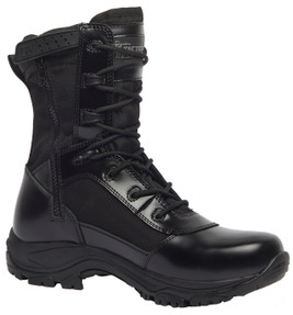 Tactical Research by Belleville TR908ZWP Class A 8 inch Men's Waterproof High Shine Side Zip Boots, Uniform/Casual, Slip and Oil Resistant, Regular or Wide Width, Black