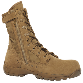 Tactical Research by Belleville TR596ZCT 8 inch Men's Flyweight Hot Weather Side Zip Composite Toe Boots, Uniform/Casual, Oil & Slip resistant, Regular or Wide Width, Coyote Brown