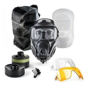 Avon Protection FM53 Twinport Specialist Responder Kit, Single Mask (APR) Air Purifying Respirator, Scratch Resistant, Communication Port for Integrated Voice Projection