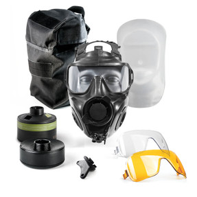 Avon Protection FM54 Twinport Specialist Responder Kit, Single Mask (APR) Air Purifying Respirator, Scratch Resistant, Communication Port for Integrated Voice Projection, Protection to the face, eyes and respiratory tract, with optional accessories