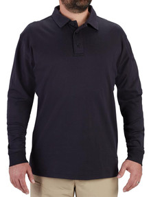 Propper® F5822 Men's Long Sleeve Uniform Cotton Polo, available in Black and LAPD Navy