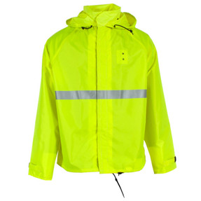 Neese 475MJD 32 inch Long Uniform Motorcycle Jacket Polyurethane/Nylon, Badge tab, available in Yellow, Black, Orange, Hi-Vis Lime, and Green
