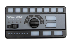 Whelen CCTL6 for Cencom Core WeCanX, Includes 3 Section Controller (Head Only) and 8 Push-Buttons, 4-Position Slide Switch with a 7-Position Rotary Knob. Manual, Airhorn Plus 3 Traffic Advisor Switches and Microphone with Extension Cable