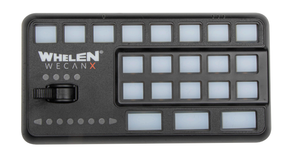 Whelen CCTL7 for Cencom Core WeCanX, Includes 3 Section Controller (Head Only) and 21 Push-Buttons, 4-Position Slide Switch, Microphone with Extension Cable