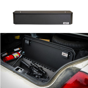 BOSS StrongBox 7413 Universal Vehicle Storage and Organizer Unit Box, Top Loader for gear and equipment, 41.5x10x8, includes foam lining