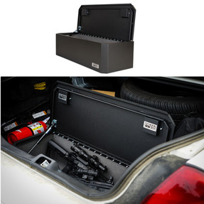 BOSS StrongBox 7437 Universal Vehicle Storage and Organizer Unit Box, Top Loader for gear and equipment, 37x14x10, includes foam lining