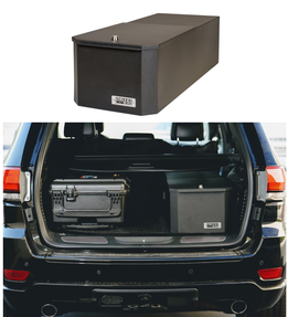 BOSS StrongBox 7530 Narrow Universal Vehicle Storage and Organizer Unit Box, Top Loader for gear and equipment, 14x27x10, includes foam lining