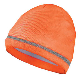 Occunomix LUX-KCR-P Hi-Viz Knit Cap, Silver Reflective Stripe, available in Black,  Orange and Yellow