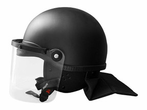 Damascus Law Enforcement Riot Control Helmet, High Impact, ABS Molded Shell, Removable neck protector, Sealed clear tactical face shield, provides full head and face protection against almost all NON-balllistic threats, Accepts most gas masks