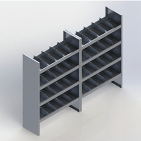 EZ-STAK 1151640 Mobile Workspace Systems for Vans & Trailers, includes two shelving units