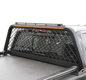 Putco Truck Headache Boss Rack, Chevy Silverado, GMC Sierra, HD 2500/3500 (2015-2019), Black or Gray, No Drilling Required