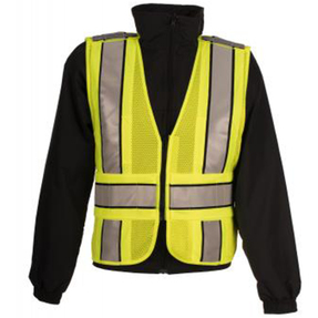 Spiewak S912 VizGuard Airflow Public Safety Vest, Uniform, Reflective, breathable, lightweight, available in Yellow / Black and Yellow / Red, Optional Lettering