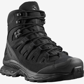 Salomon L40682500 Quest 4D Forces 2 EN Unisex 6 inch Boots, Uniform or Casual, Oil and Slip Resistant, available in Black and Ranger Green