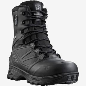 Salomon L40165000 Toundra Forces CSWP Unisex 8 inch Boots, Lightweight, Uniform or Casual, Waterproof, Black