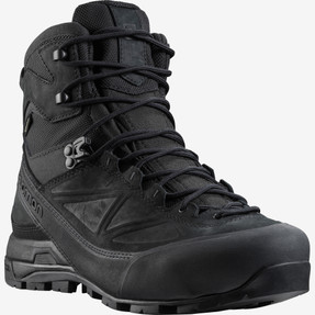 Salomon L39347000 X ALP GTX Forces Men's 6 inch Boots, Uniform or Casual, Lightweight, Waterproof, available in Black and Slate Black