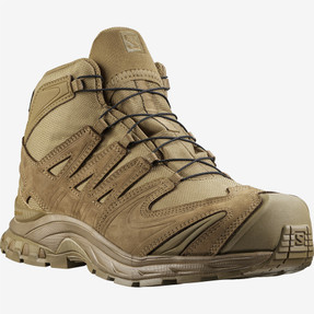 Salomon L40977900 XA Forces MID GTX Unisex 5 inch Boots, Lightweight, Uniform or Casual, Waterproof, Coyote Brown